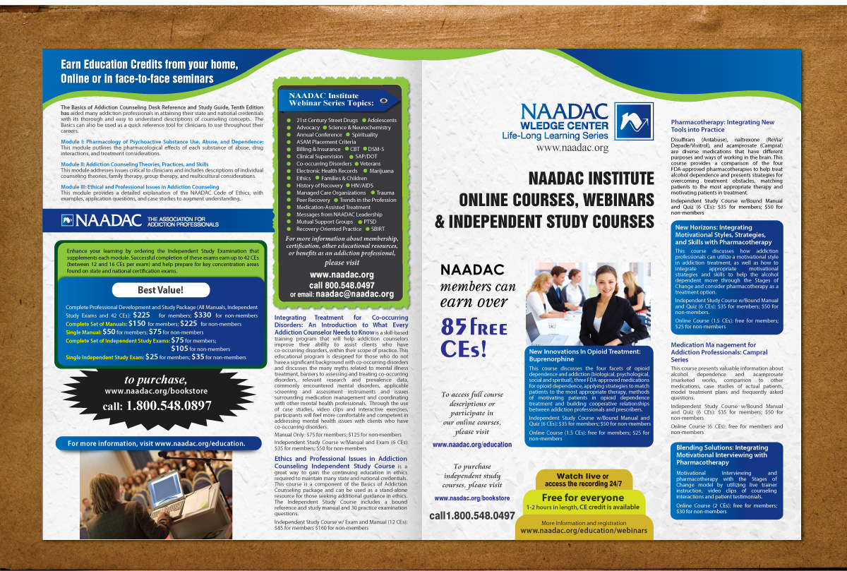 Modern, Economical, Non-Profit Flyer Design for NAADAC by Sbss