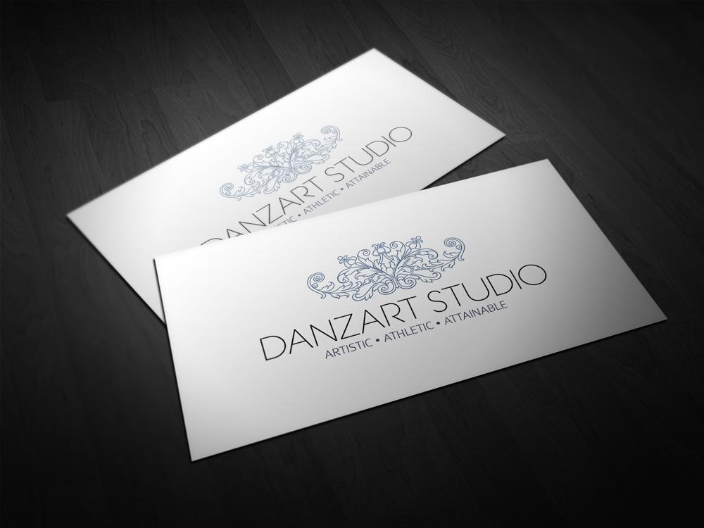 Dance studio business cards arts arts dance studio logo design for danzart artistic athletic colourmoves
