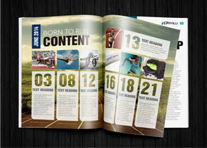 Magazine Design by hema dhawan - Magazine Template for a Sporting Event