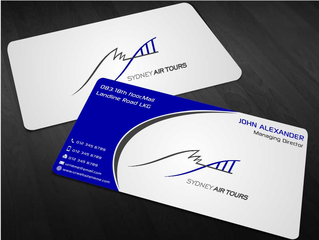 Modern professional business business card design for sydney air business card design by xtremecreative45 for sydney air tours design 4344095 reheart Image collections