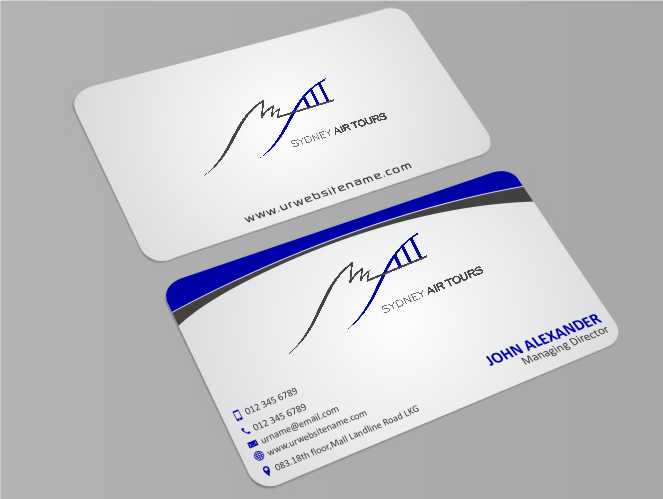 Modern professional business business card design for sydney air business card design by xtremecreative45 for sydney air tours design 4344101 reheart Image collections