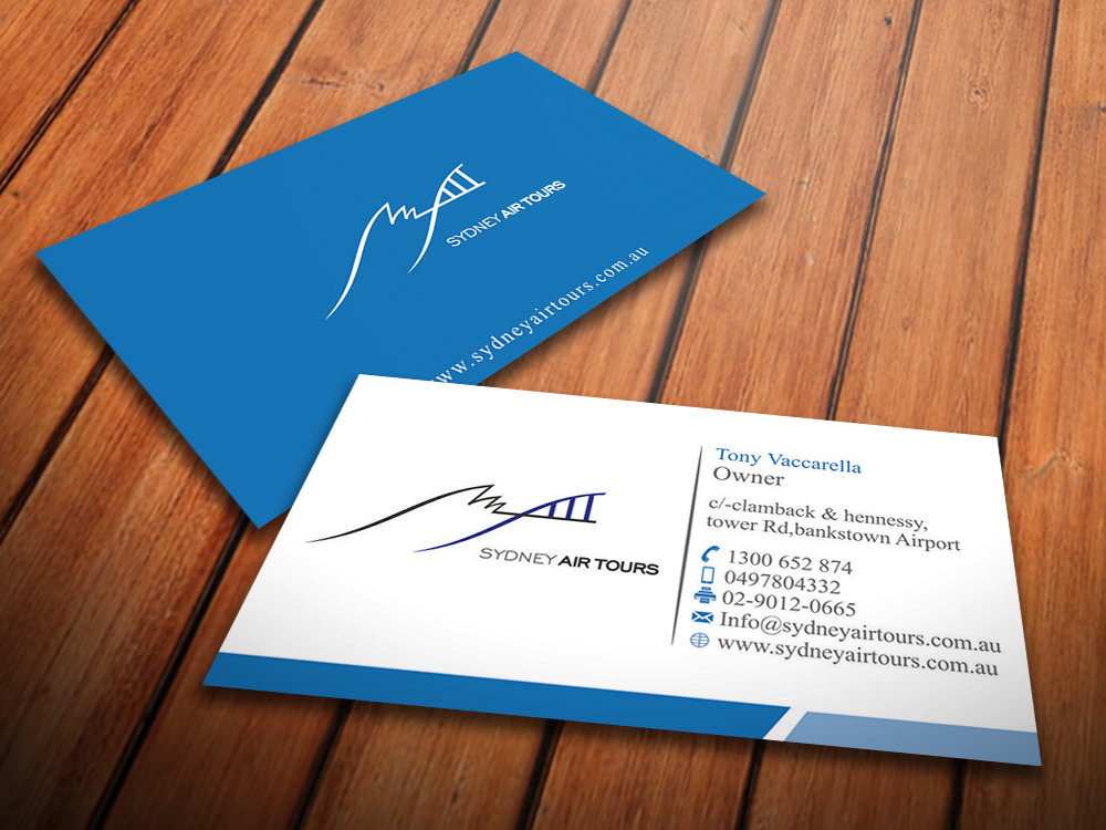 Modern professional business business card design for sydney air business card design by taimoor for sydney air tours design 4344048 reheart Image collections