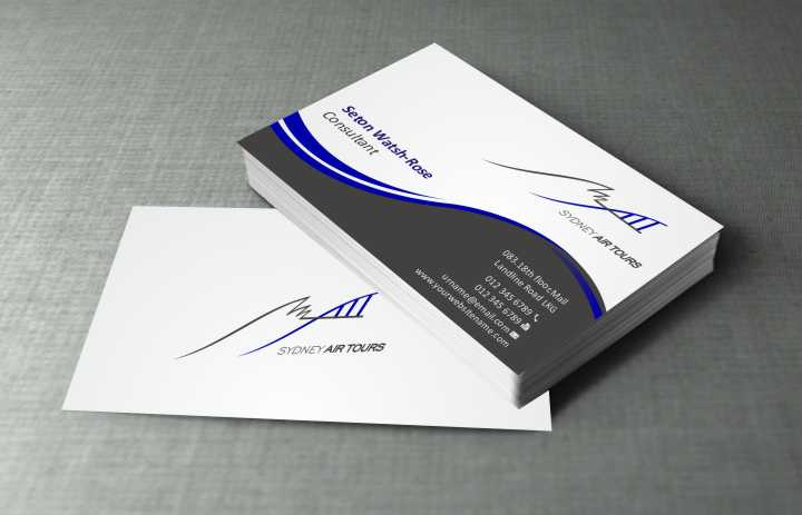 Modern professional business business card design for sydney air business card design by szabist for sydney air tours design 4345115 reheart Image collections