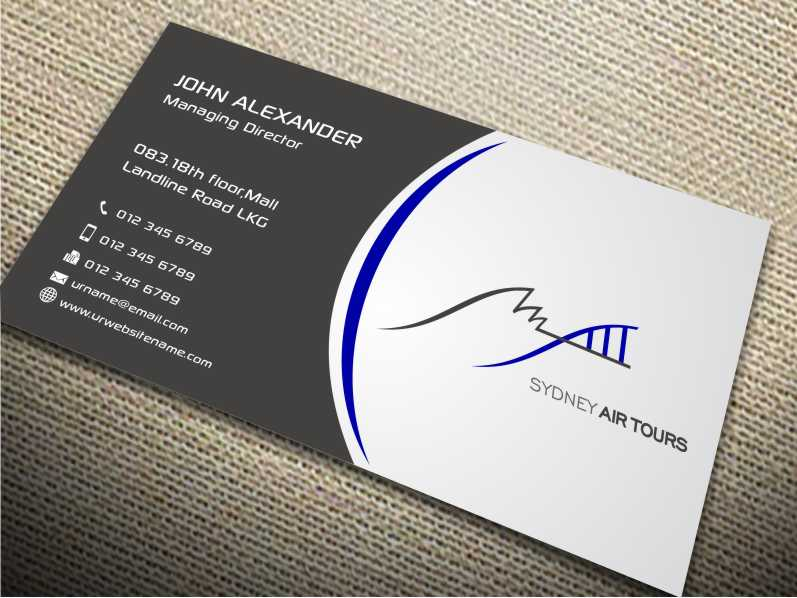 Modern professional business business card design for sydney air business card design by szabist for sydney air tours design 4345118 reheart Image collections