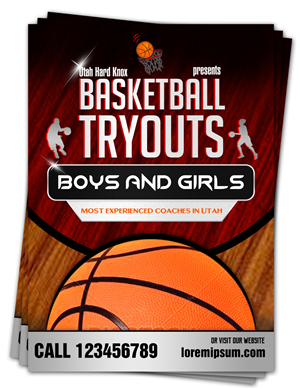 Flyer Design (Design #4373641) Submitted To Utah Hard Knox Basketball  Tryouts. (