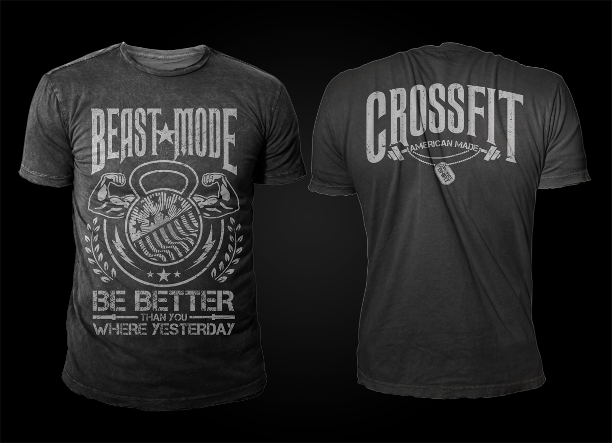 T shirt design for project shirt by d 39 mono design 4437182 for Best fitness t shirts