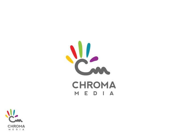 digital logo design for chroma media by folker design