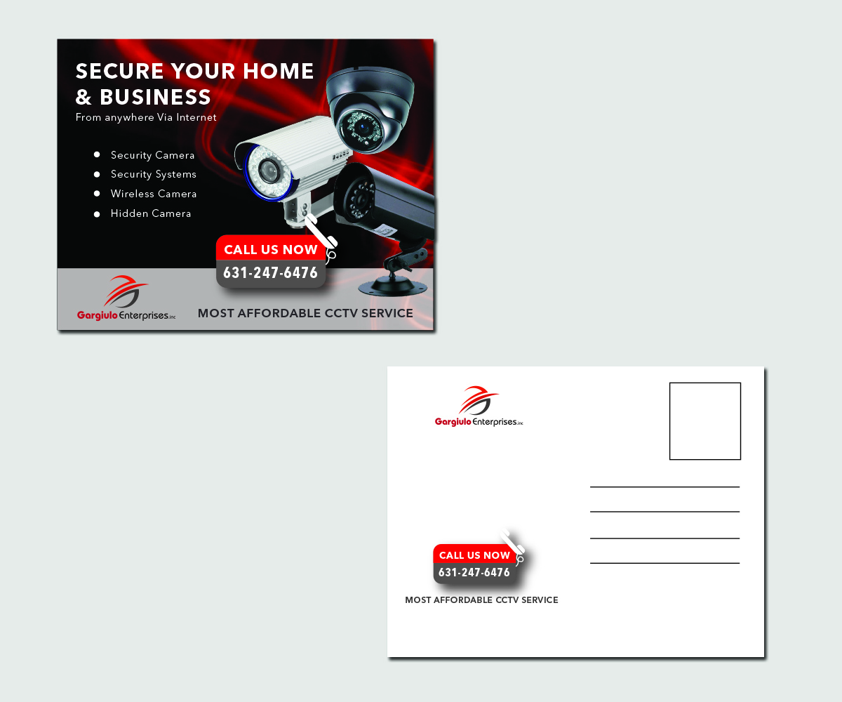 Serious, Professional, Security Postcard Design for a Company by ...
