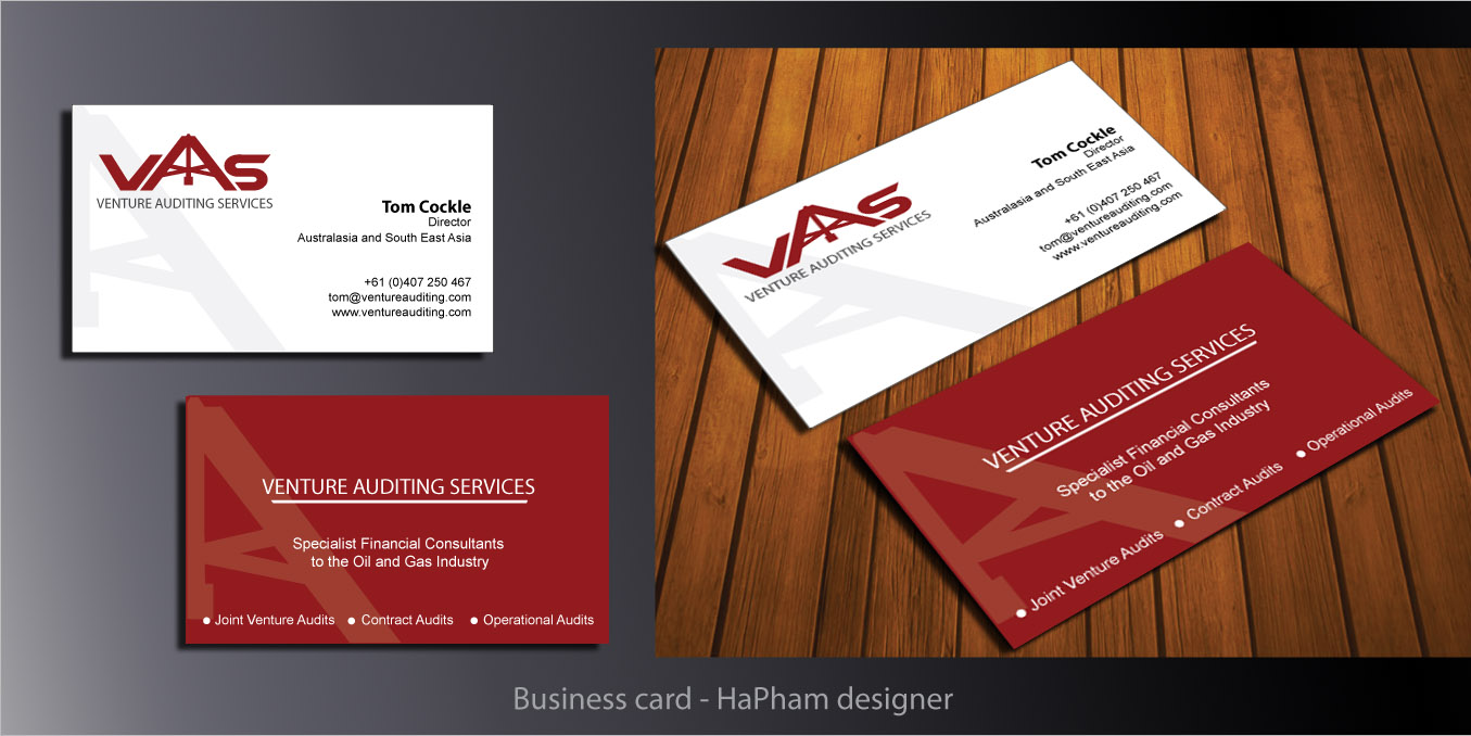 Serious, Professional Business Card Design for Tom by Hana ...