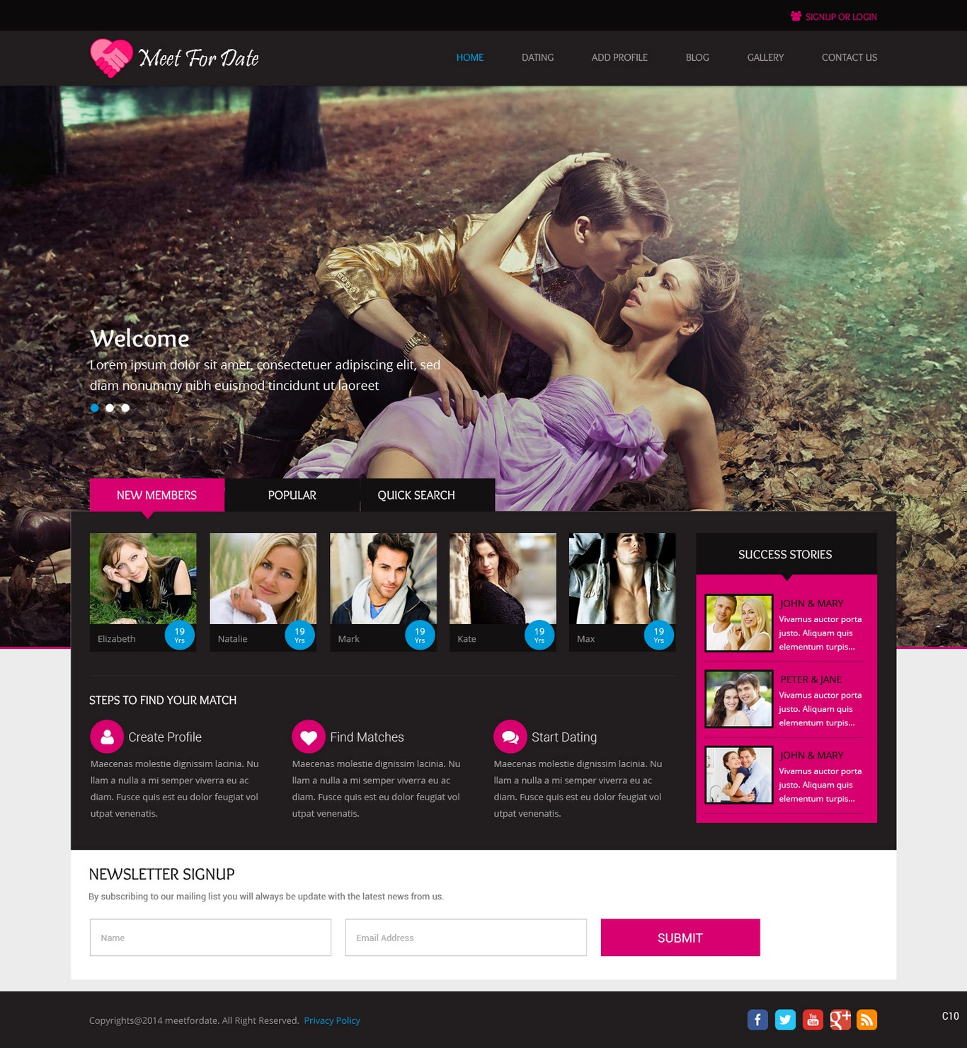 web design dating site Buy a dating site - online dating system  all the sites we design are branded to meet your to appeal to your target market core features: profile page.
