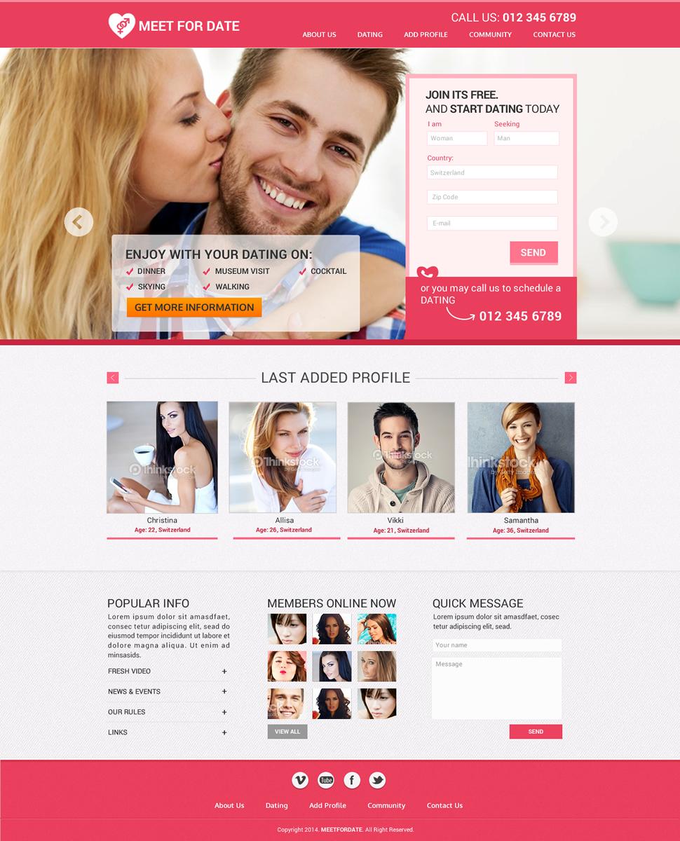 Dating site design