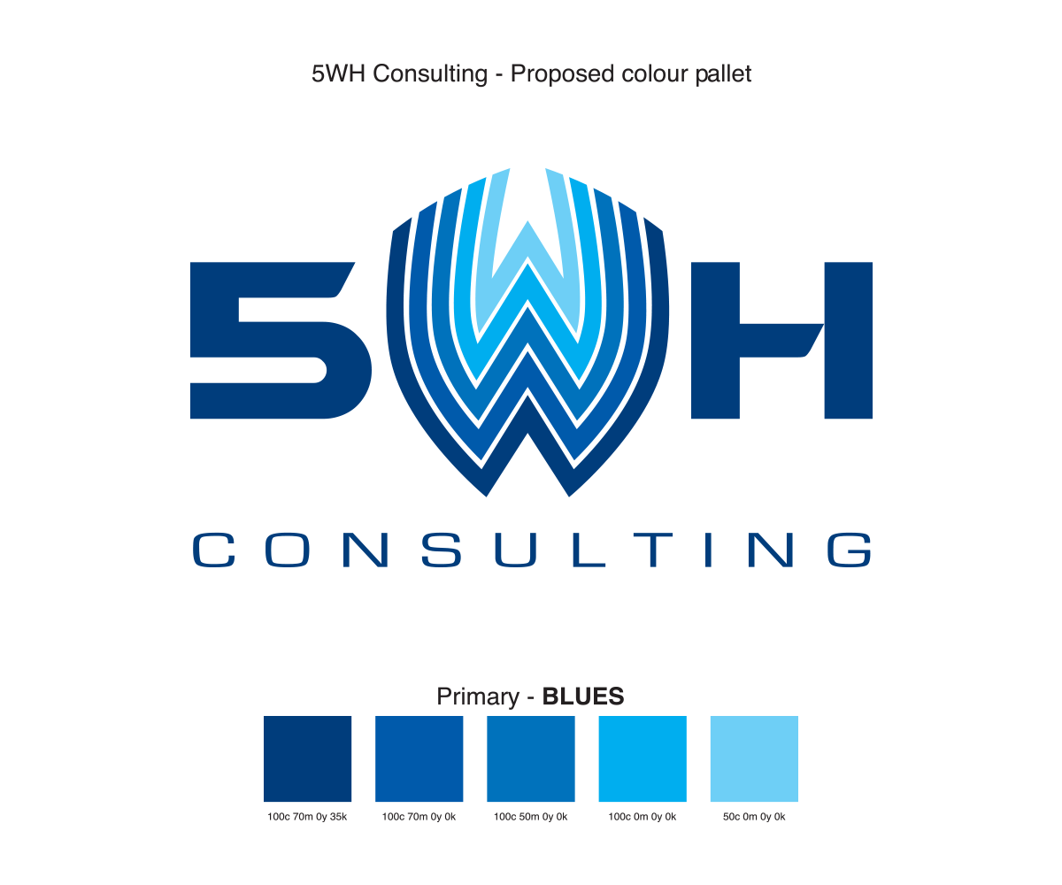 serious professional security logo design for 5wh by shazigns