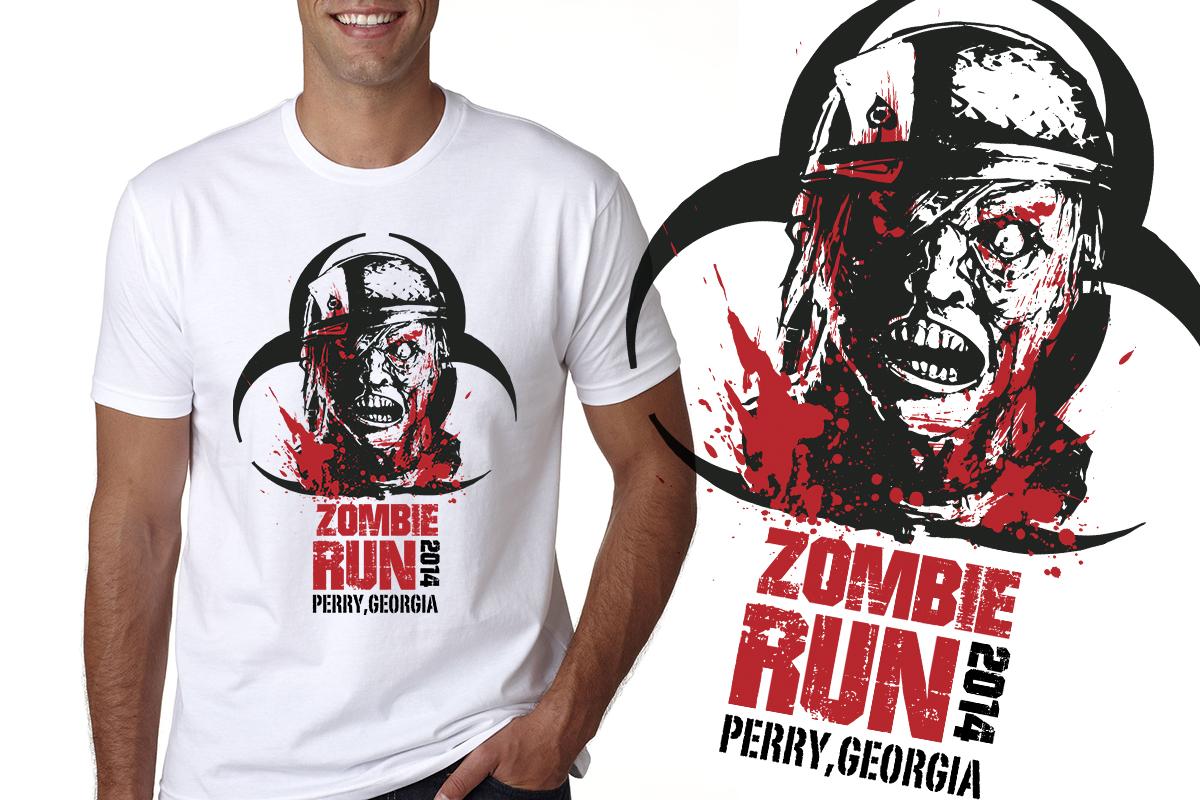 Shirt design of 2014 - T Shirt Design By Dsgrapiko For Zombie Run Perry Ga 2014 Design 4354460