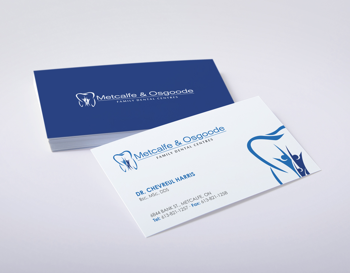 serious modern letterhead design for metcalfe family dental
