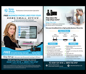 Flyer Design by uk - UK VoIP Services Provider needs A5 Flyer design