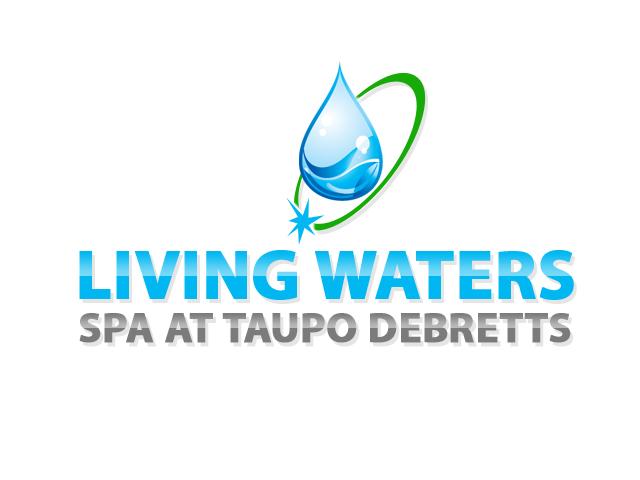 elegant playful massage logo design for living waters