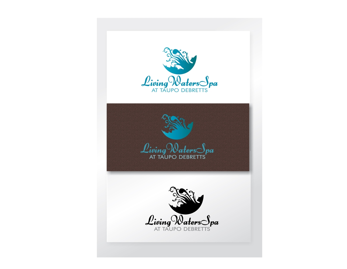 elegant playful massage logo design for living waters