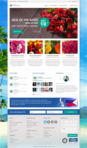 Wordpress Design by pb - Wordpress E-Commerce Site for Flower Company