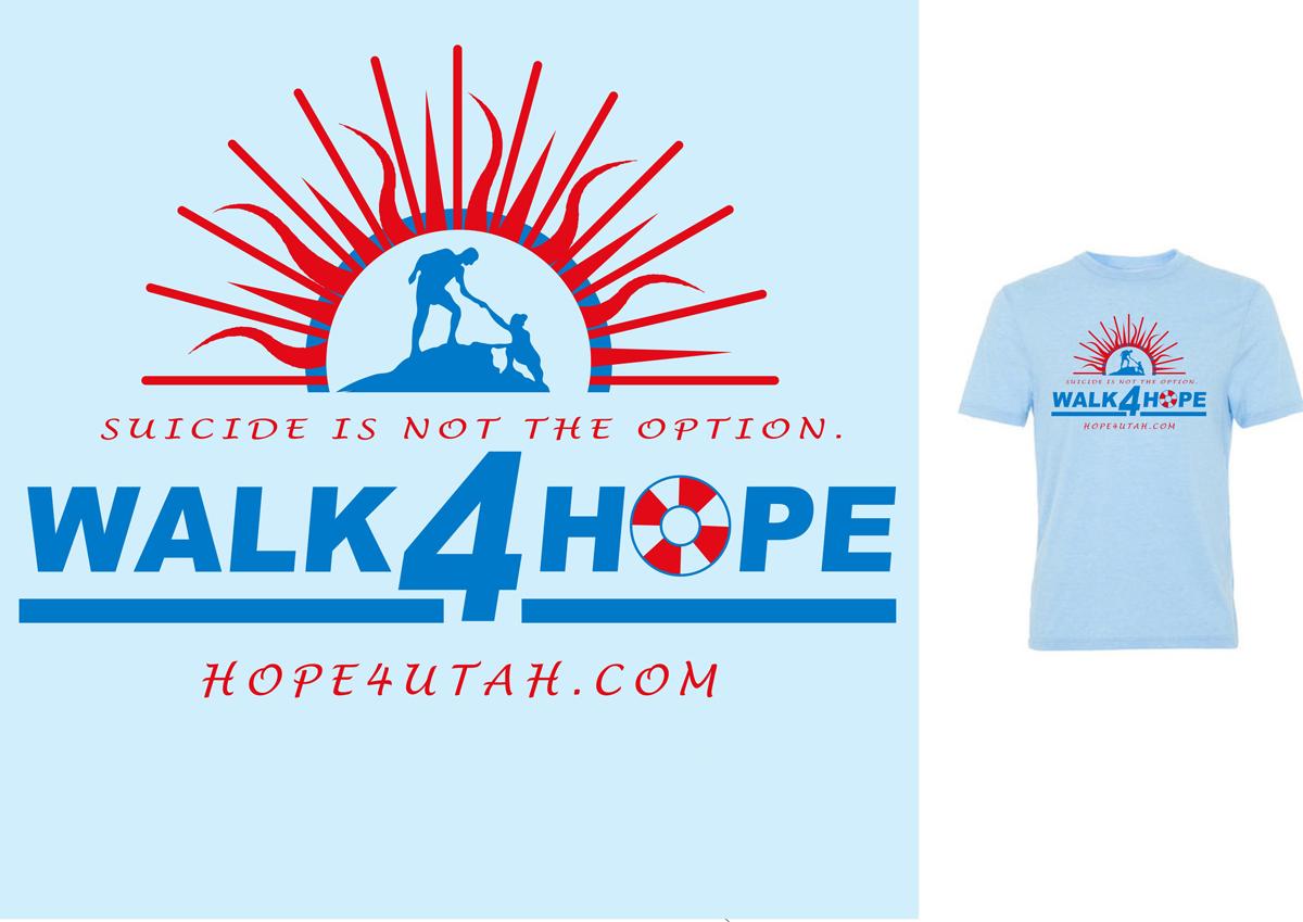 Shirt design utah - T Shirt Design By Piersols For Walk 4 Hope T Shirt Design Design