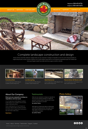 Web Design by pb - Packish landscape website