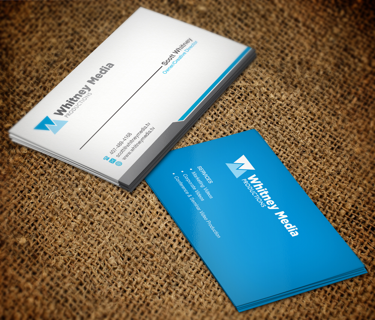 Modern, Professional Business Card Design for Whitney Media ...