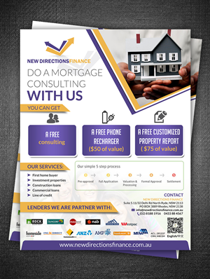 Flyer Design by ESolz Technologies - Mortgage broker company need a attractive flyer...