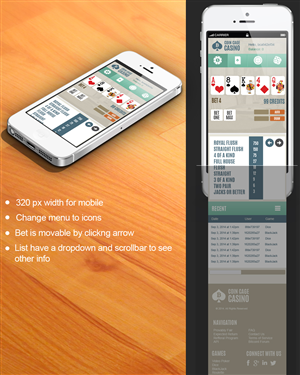 App Design by jeckx2 - Bitcoin Casino User Interface