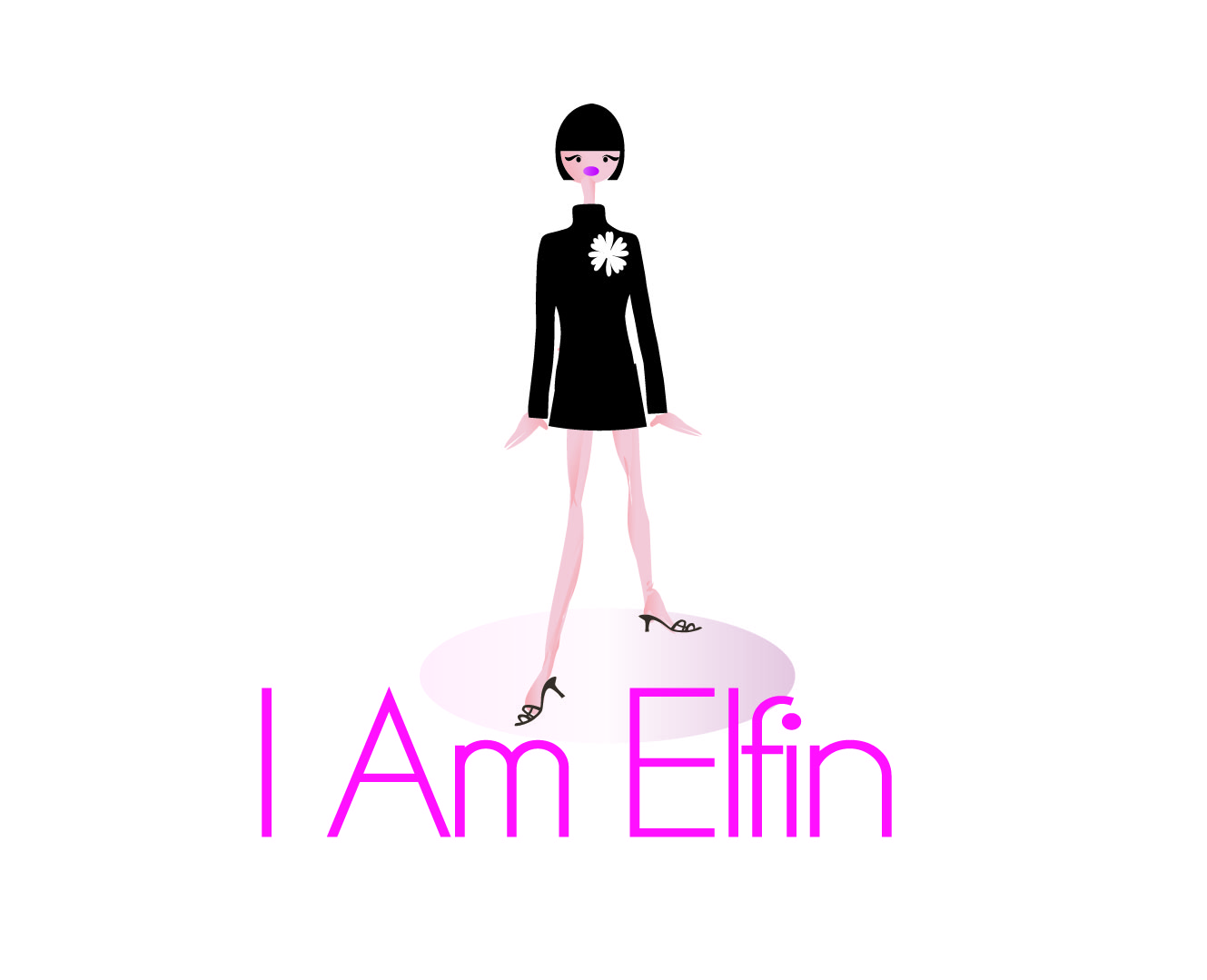 Feminine Personable Clothing Logo Design For Iamelfin By Crescent Moon Design 1250112