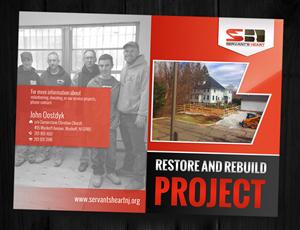 Brochure Design by ESolz Technologies - Servant's Heart: Project Rebuild & Restore