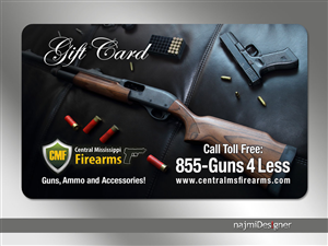 Card Design by  Najmi - Central Mississippi Firearms Gift Card