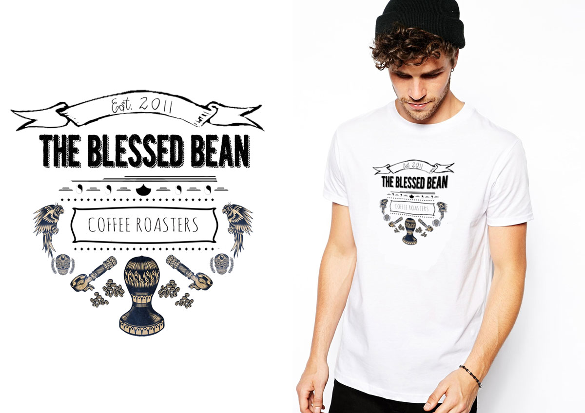 Upmarket, Playful T-shirt Design for THE BLESSED BEAN by EGD ...
