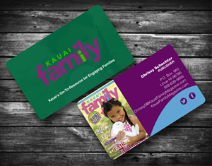 Business business card design for kauai family magazine llc by business card design by peter for kauai family magazine llc design 4417788 reheart Images