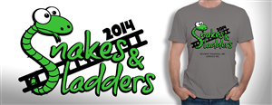 T-shirt Design by Advance Multimedia - HOT: Fun and cool Snakes and Ladders T-shirt