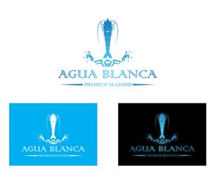 Logo Design by [R] Design  - Logo design for organic seafood brand: Agua Bla...