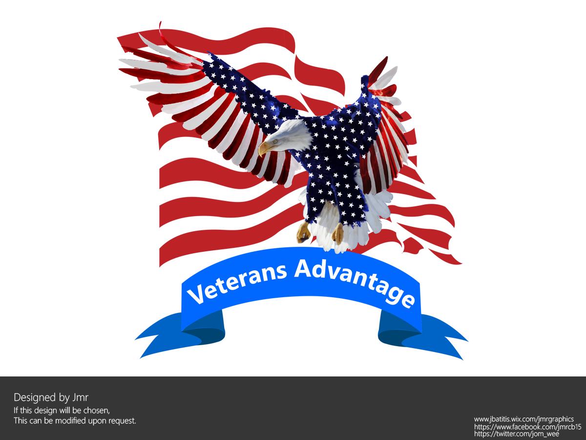 construction logo design for veterans advantage by jom