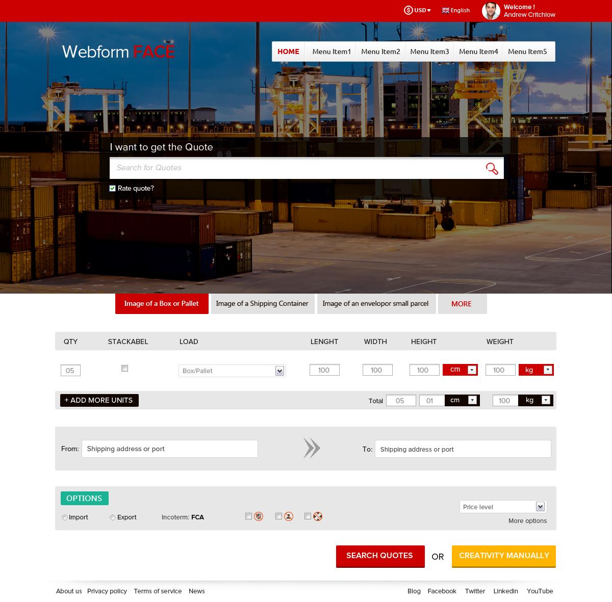 Modern professional building web design for tradeos for Professional building designer