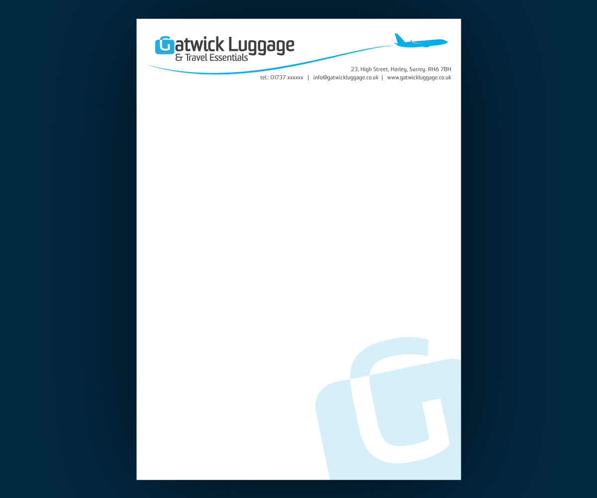 professional elegant airport letterhead design for a company by
