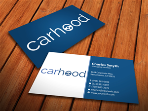 car rental business card