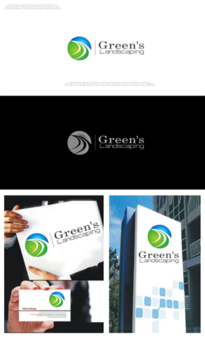 Logo Design job – Green's Landscaping – Winning design by Simon_Design