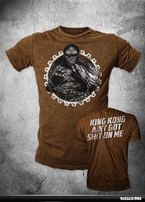 T-shirt Design by GekDesigns - RAGING MUSCLY GORILLA SHIRT