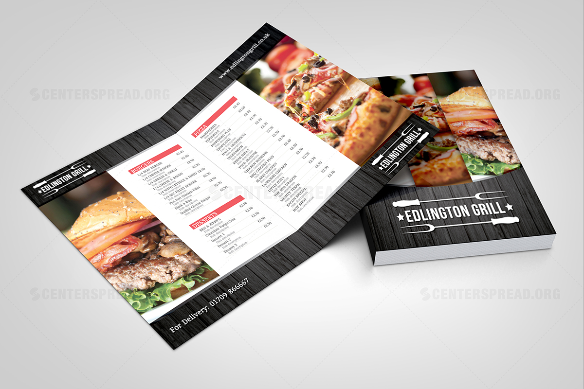 bold, modern, business menu design for a company by centerspread