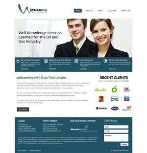 Web Design by OM - Web Design Project for a Software & Consulting ...