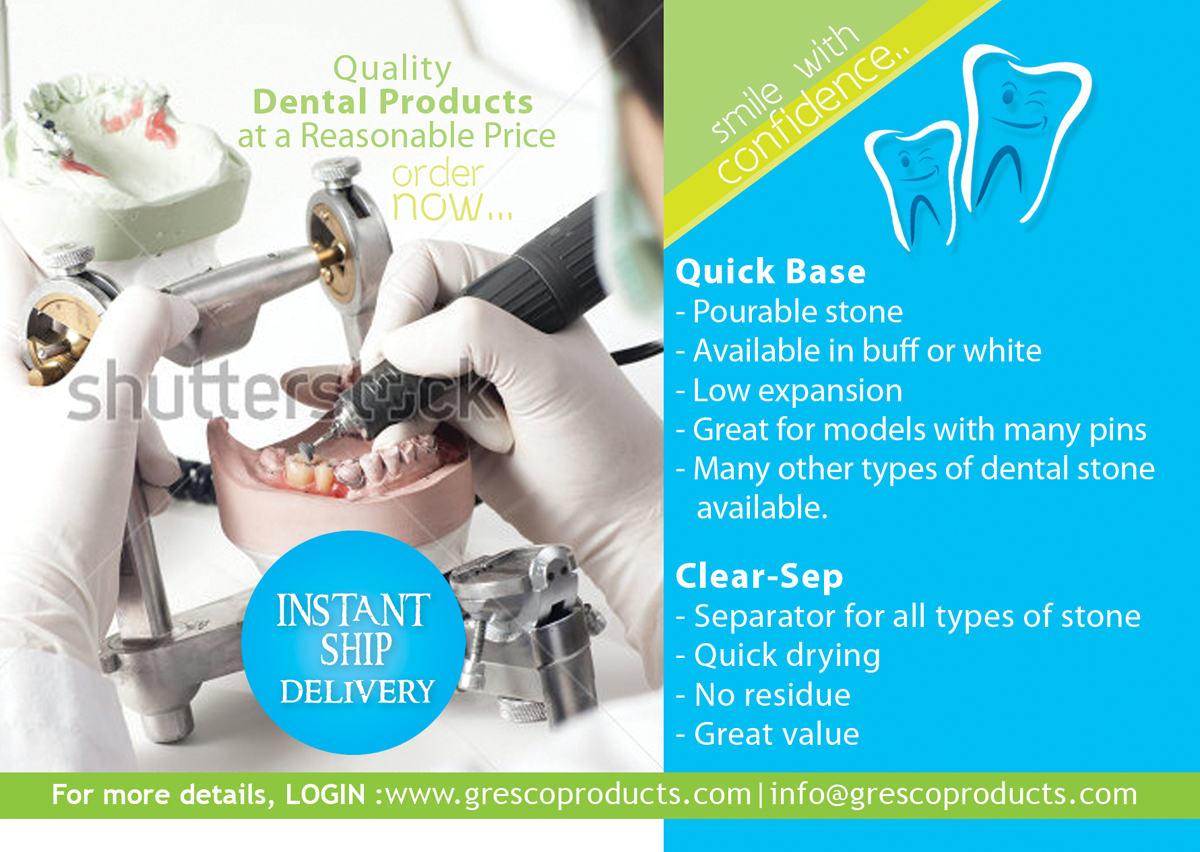 Serious, Professional, Dental Card Design for Gresco
