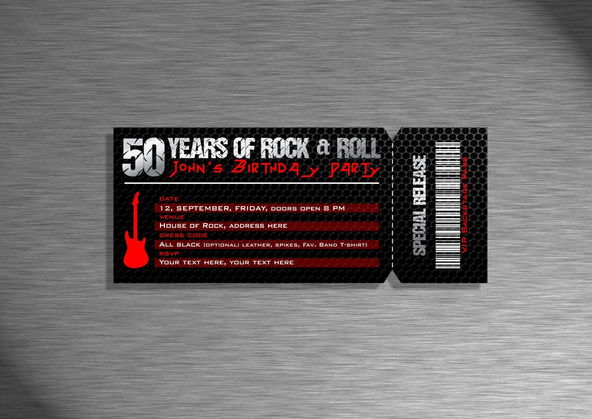 Invitation Design By Amduat Design For Rock Concert Ticket   Design #4432053  Concert Ticket Design