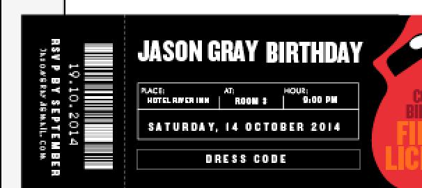 concert ticket design