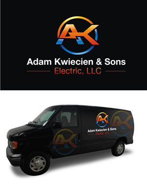 Logo Design by hih7 - Adam Kwiecien and Sons Electric Logo