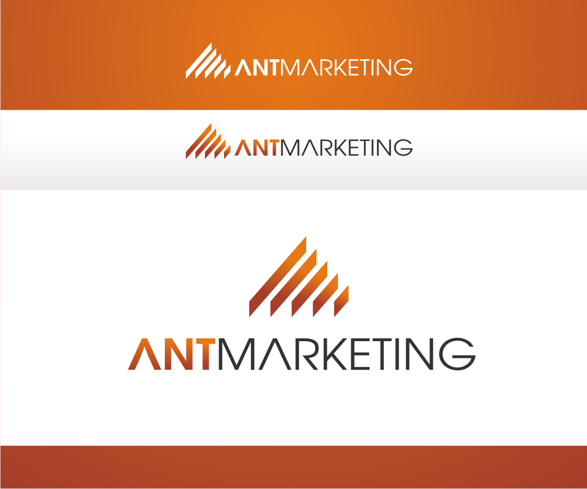 Marketing logo design for ant marketing digital by r i d for D for design