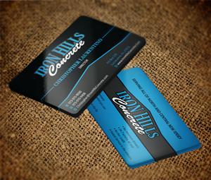 Business Card Design by MT - Iron Hills Concrete business card design