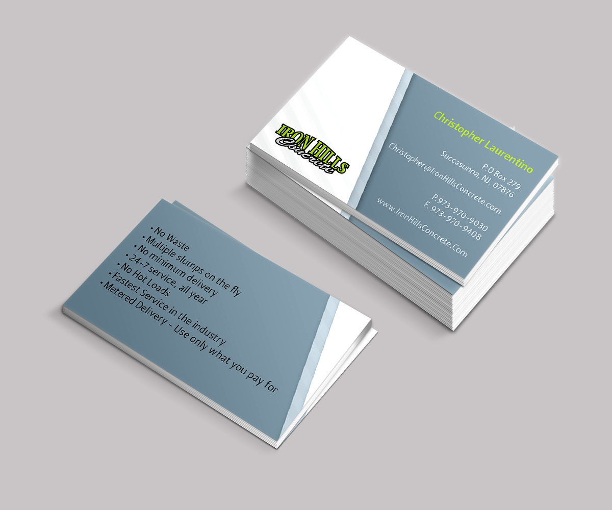Bold, Serious, Concrete Business Card Design for comfort specialists ...