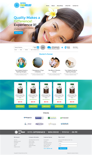 Web Design by Black Stallions -    Weebly e-commerce website for 'naturalpainre...